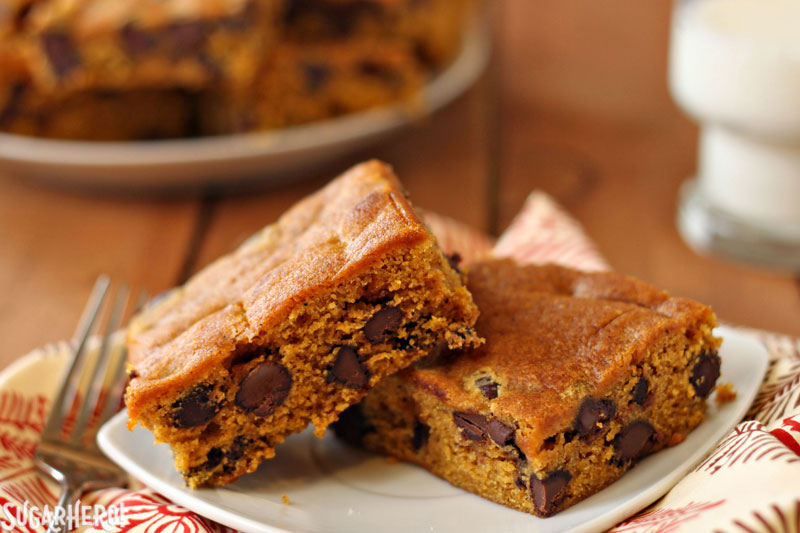 chip bars. I've long had a love affair with pumpkin chocolate chip ...