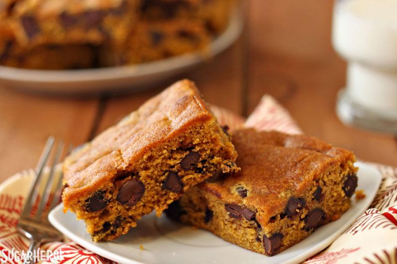 chip bars. I've long had a love affair with pumpkin chocolate chip ...