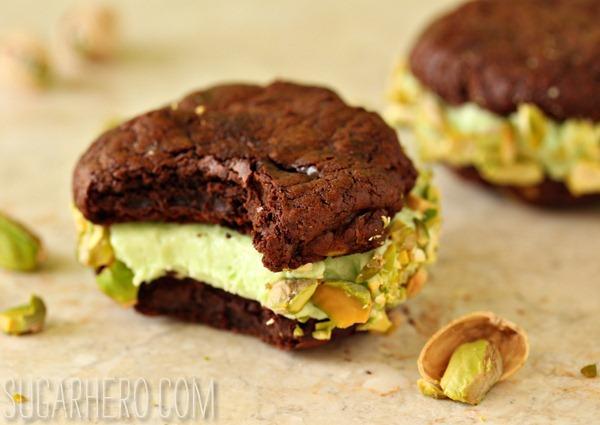 Chocolate-Pistachio Sandwich Cookies - SugarHero