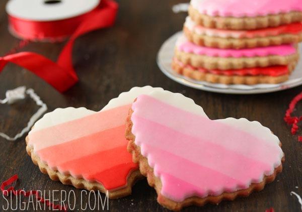 Brown Butter Heart Cookies | SugarHero.com