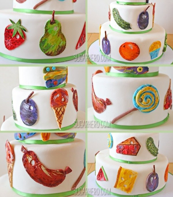 Very Hungry Caterpillar Cake | SugarHero.com