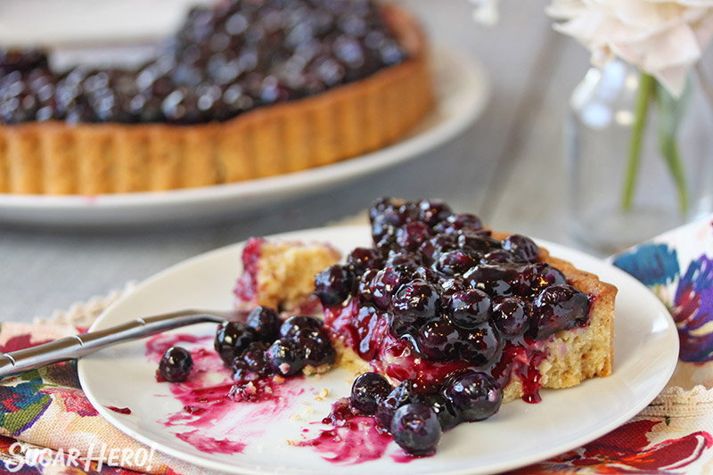 Blueberry Toasted Coconut Tart | SugarHero.com