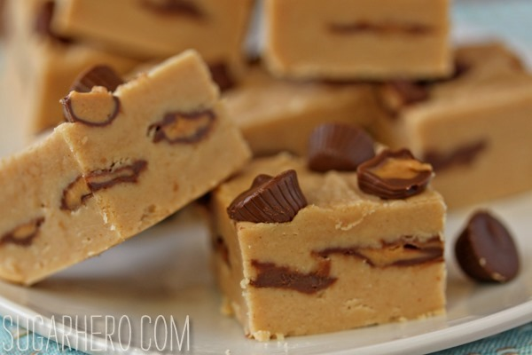 Peanut Butter Cup Fudge | SugarHero.com