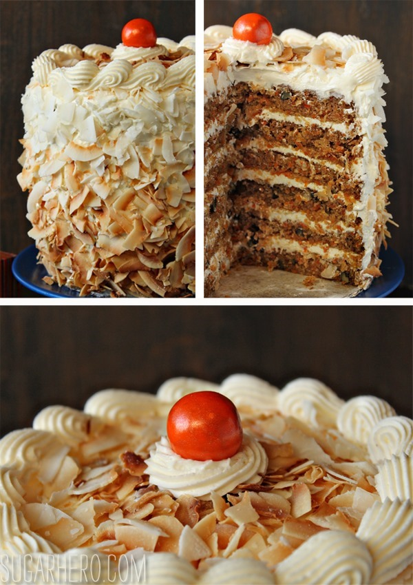Carrot Cake With Coconut Cream Cheese Buttercream Sugarhero Com