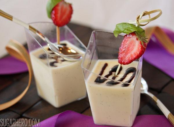 Crème Fraiche Panna Cotta | SugarHero.com