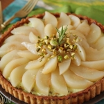 Pear Pistachio Tart with Rosemary Crust