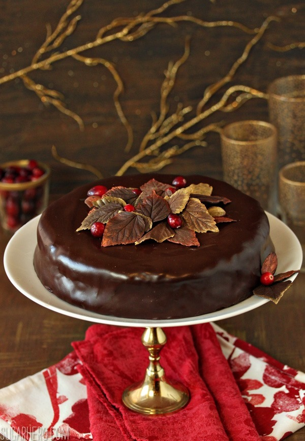 Cranberry Chocolate Truffle Cake - SugarHero