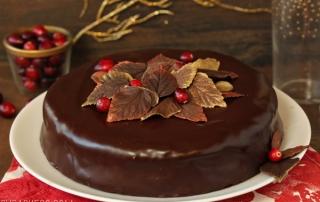 Cranberry Chocolate Truffle Cake   SugarHero.com