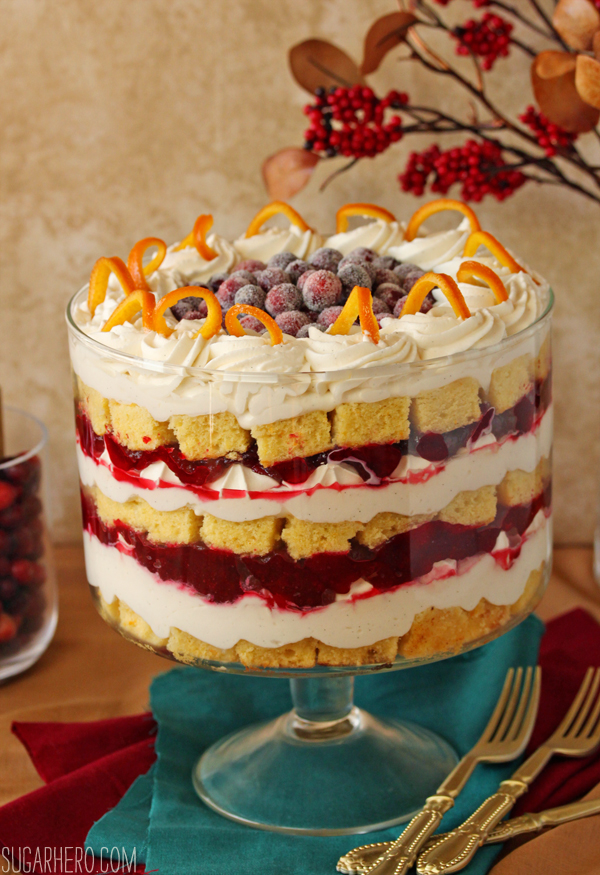 Cranberry Orange Trifle | SugarHero.com