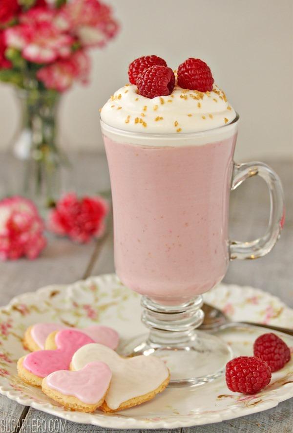 Raspberry White Hot Chocolate | SugarHero.com