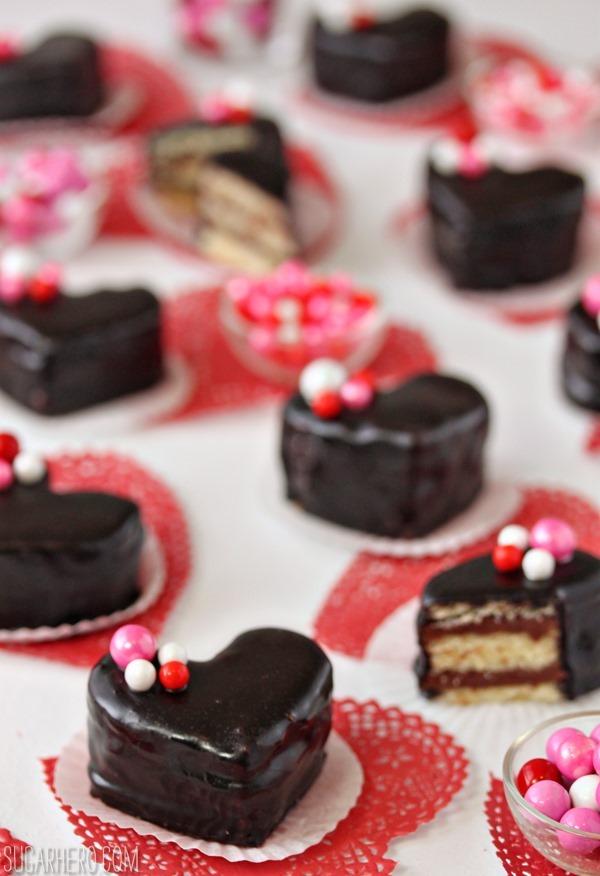 Nutella Pound Cake Petit Fours | SugarHero.com