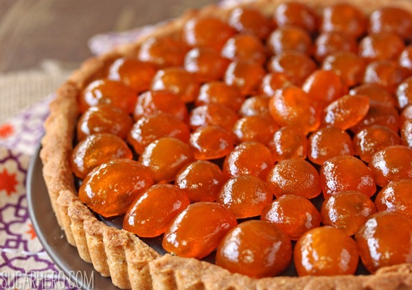 Chocolate Tart with Candied Kumquats - SugarHero