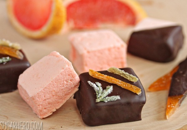 Grapefruit Marshmallows | SugarHero.com