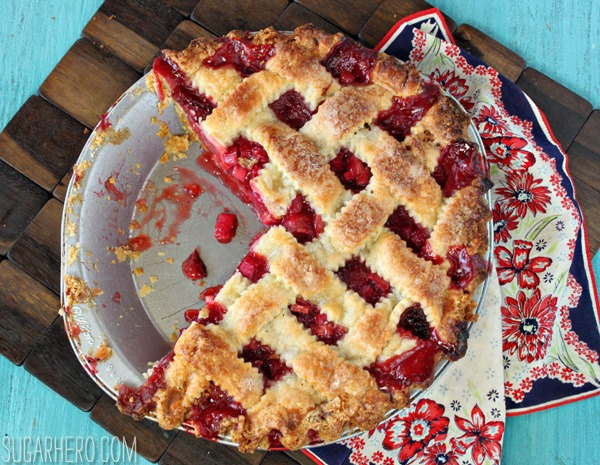 Strawberry Rhubarb Pie | SugarHero.com