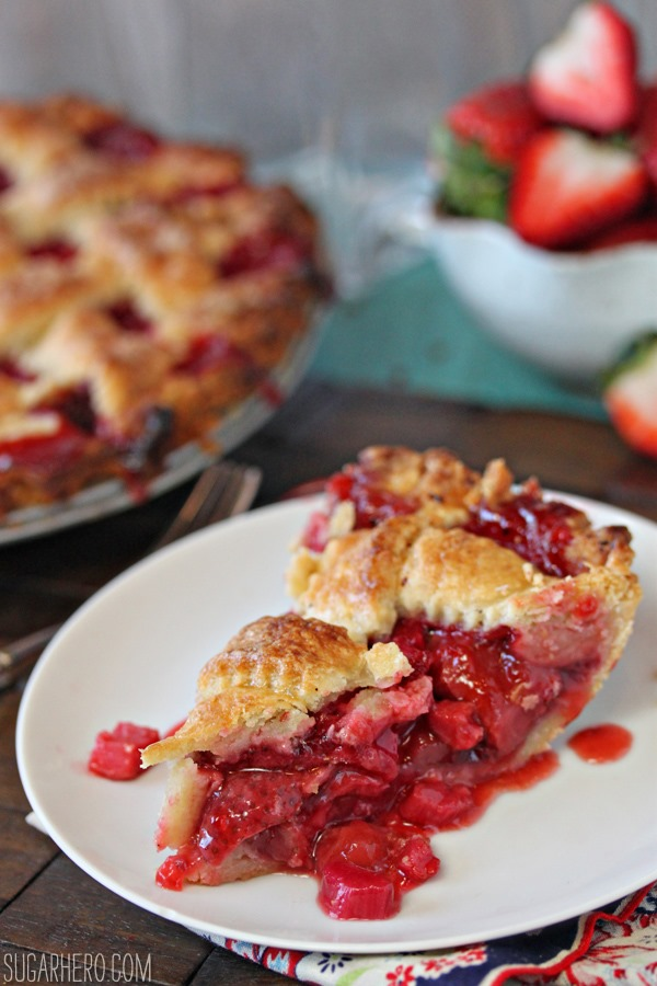 Strawberry Rhubarb Pie - SugarHero