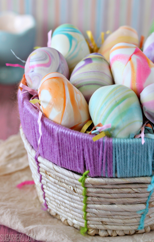 Marbled Easter Egg Truffles | SugarHero.com