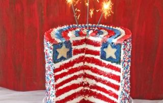 American Flag Layer Cake   SugarHero.com