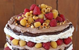 Hazelnut Meringue Cake   From SugarHero.com