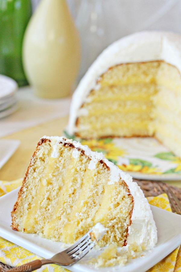 Lemon Coconut Snowball Cake | From SugarHero.com