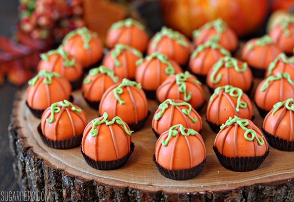 Pumpkin Bread Truffles | From SugarHero.com