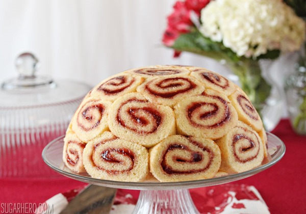 Strawberry Up Side Down Cake
