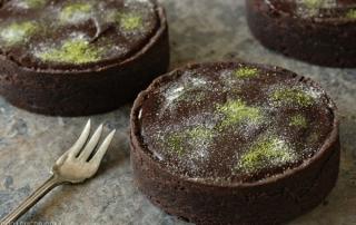 Matcha Chocolate Tarts   From SugarHero.com