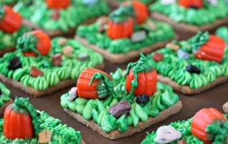 Pumpkin Patch Shortbread | From SugarHero.com