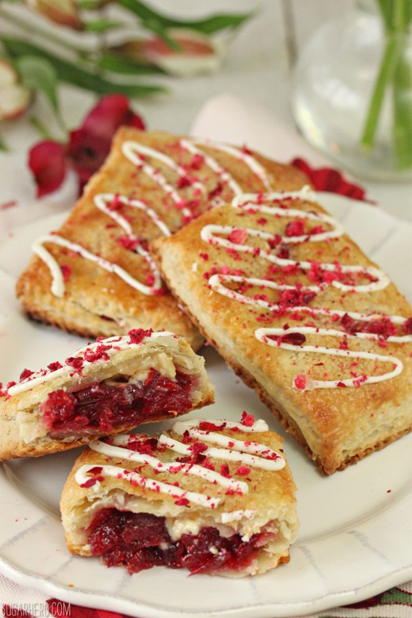 Cranberry White Chocolate Sweetie Pies | From SugarHero.com