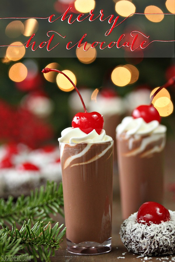 Cherry Hot Chocolate | From SugarHero.com