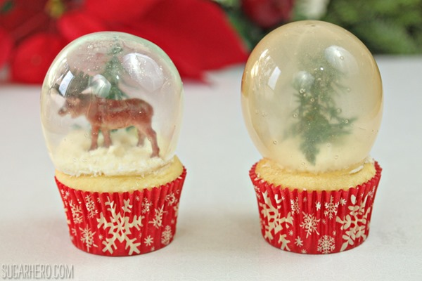 how to make snow globe cupcakes