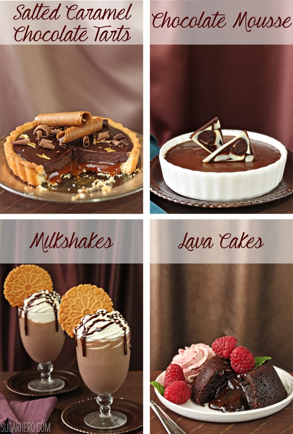 Four Fantastic Ways to Use Ganache: Tarts, Mousse, Milkshakes, and Lava Cakes | From SugarHero.com