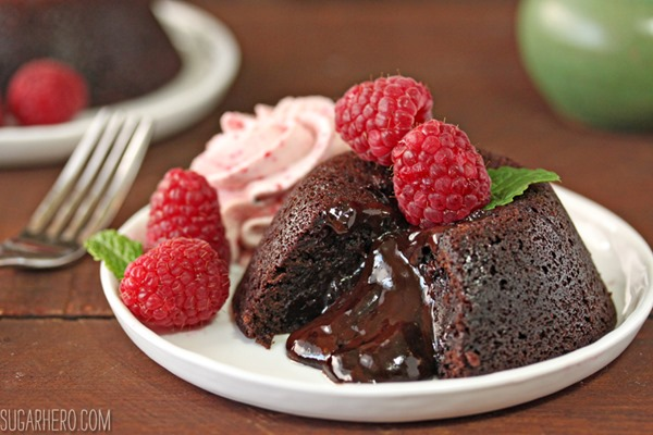 Four Fantastic Ways to Use Ganache: Easy Lava Cakes | From SugarHero.com