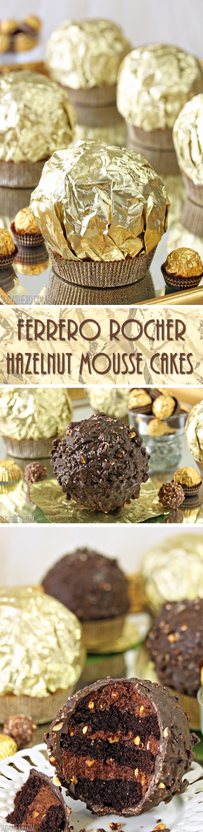 Giant Ferrero Rocher Hazelnut Mousse Cake | From SugarHero.com