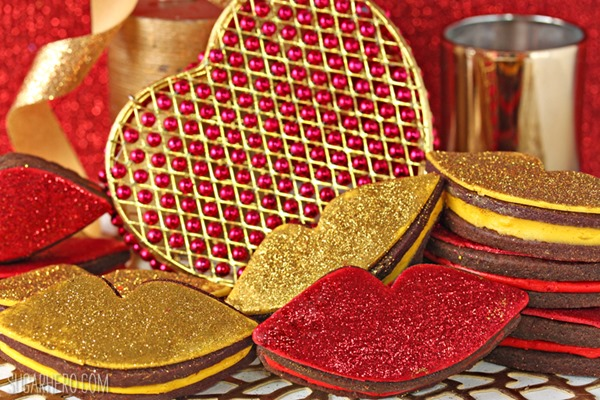Red Hot Love Cookies   From SugarHero.com