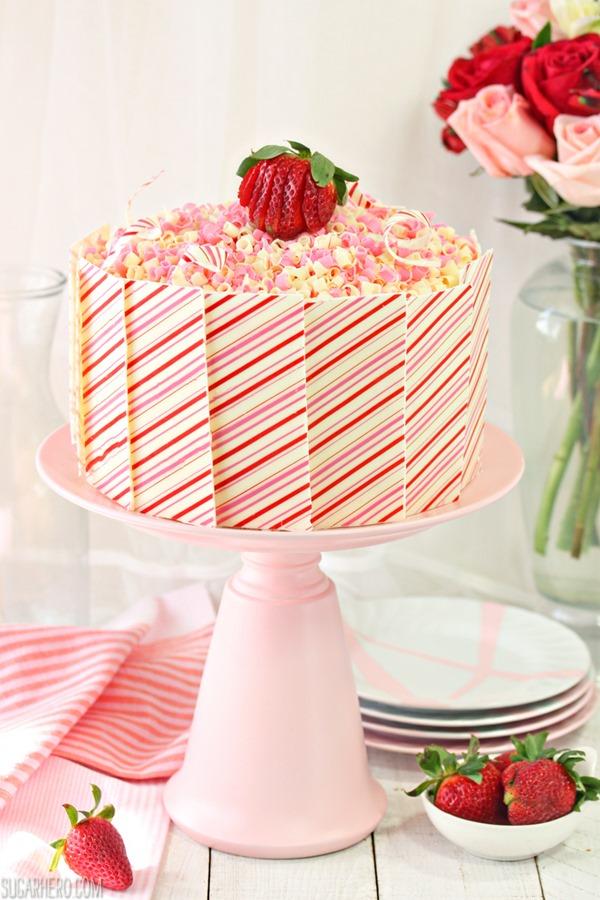 Cake With Cream Layer : Strawberries and Cream Layer Cake - SugarHero