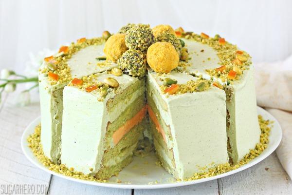 Pistachio Orange Cake | From SugarHero.com