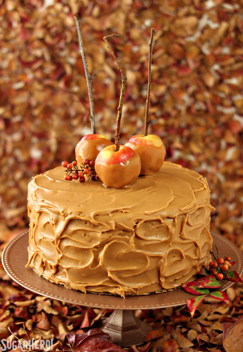 Caramel Apple Cake | From SugarHero.com