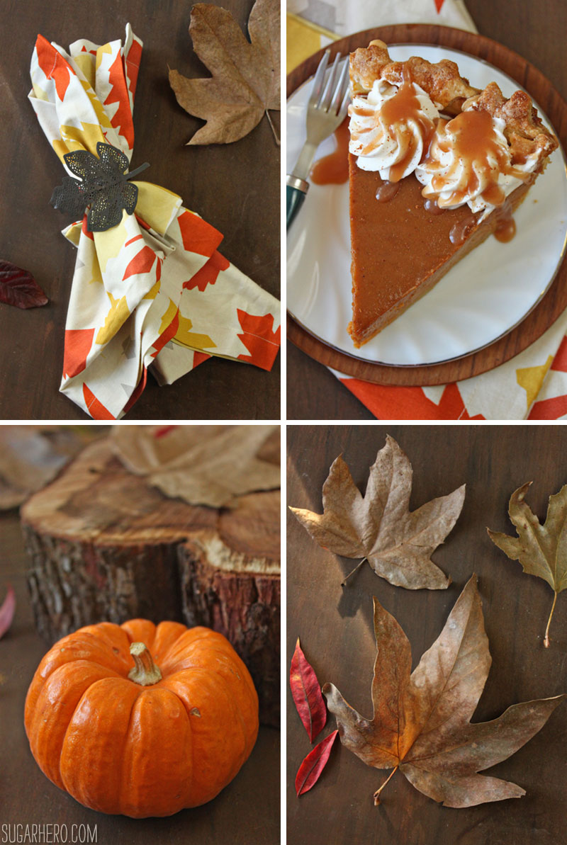 Dulce de Leche Pumpkin Pie | From SugarHero.com