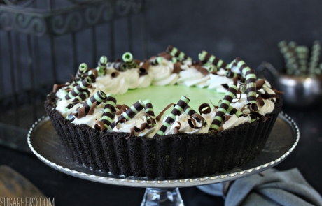 Fresh Mint Grasshopper Pie | From SugarHero.com