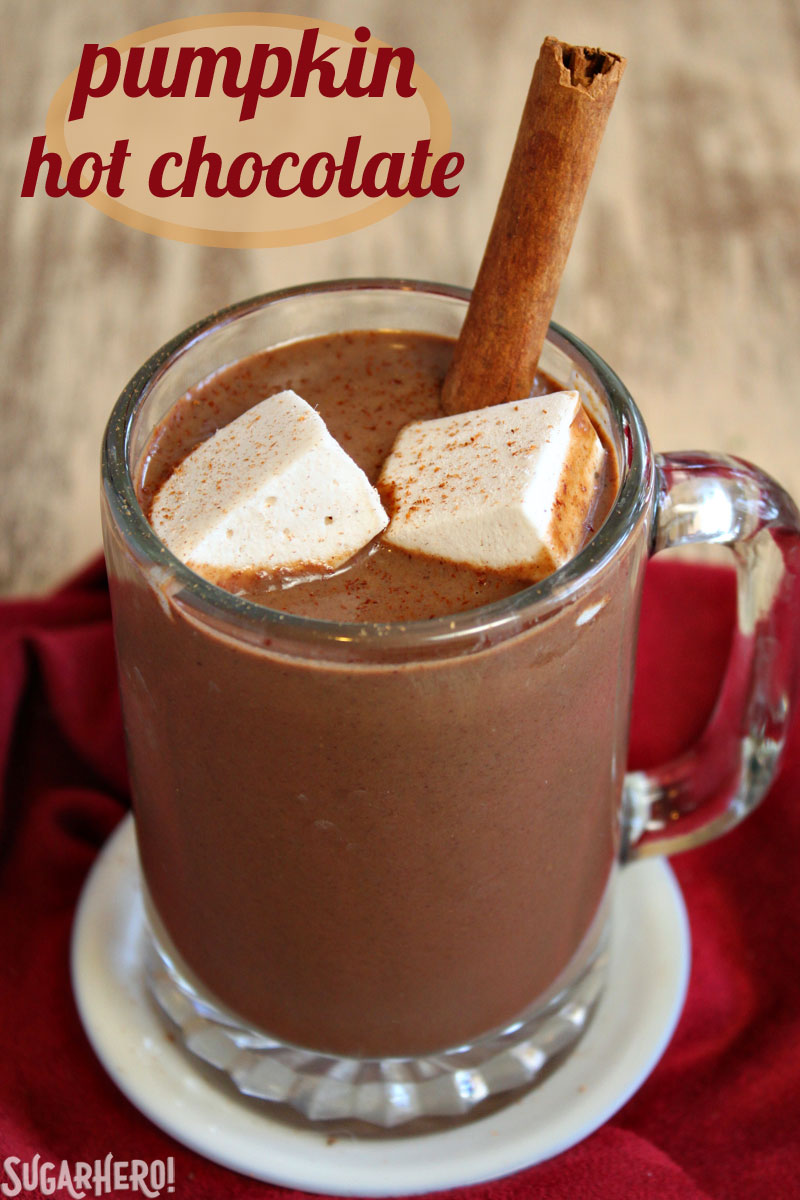Pumpkin Hot Chocolate | From SugarHero.com
